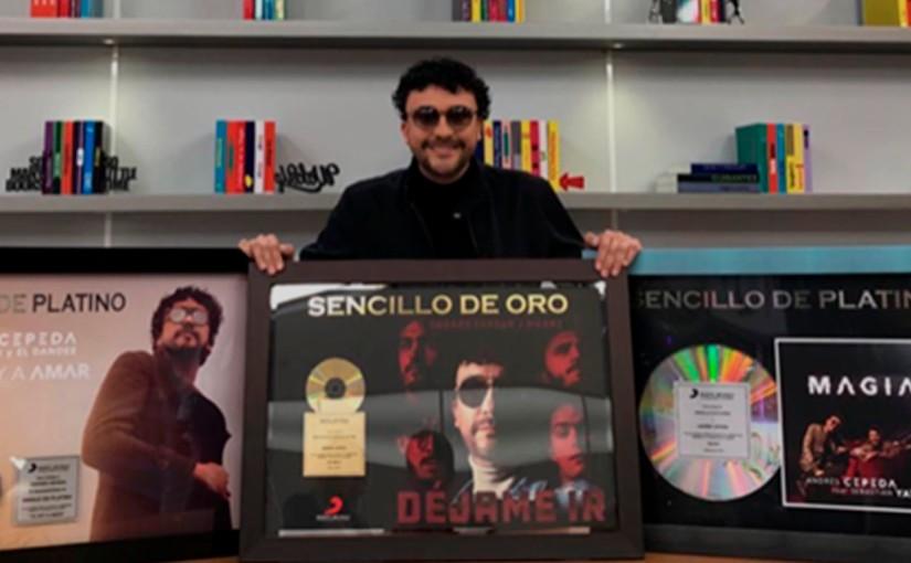 Andrés Cepeda recibió múltiples certificaciones por sus altas reproducciones en plataformasdigitales