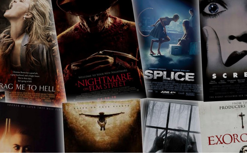 Noche de películas de terror enHalloween