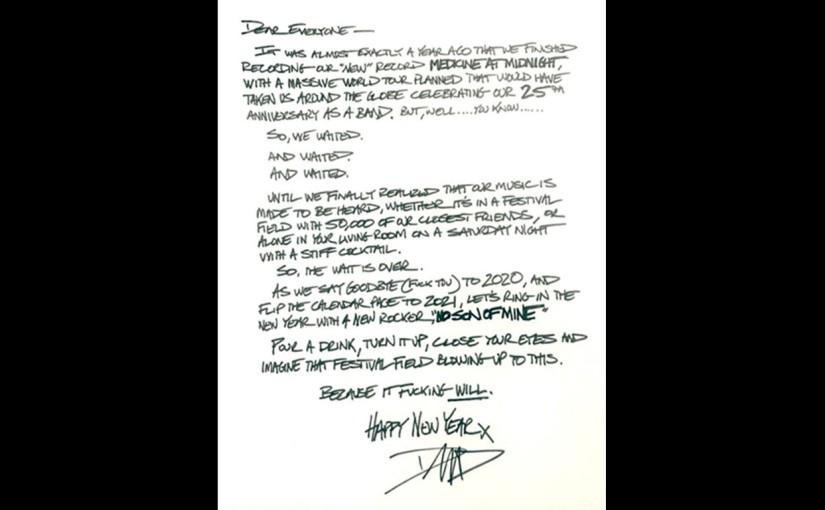 """Foo Fighters presentaron """"No Son of Mine"""" su segundo sencillo de su álbum Medicine atMidnight"""